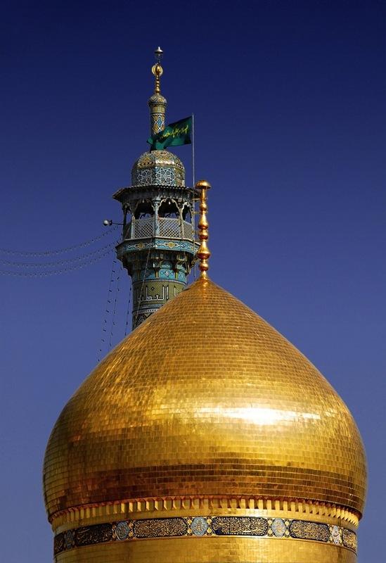 Купол мечети в г. Кум. Иран.