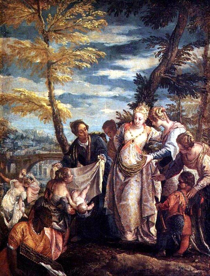 Паоло Веронезе. Нахождение Моисея (1575)