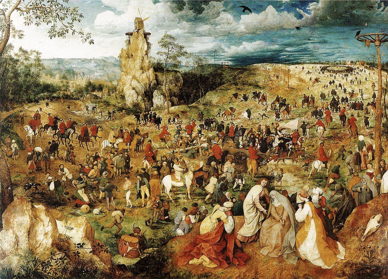 Питер Брейгель старший. Путь на Голгофу. (1564г.)