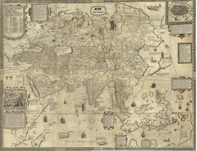 Карта Даниэля Келлера 1590 года на русском языке
