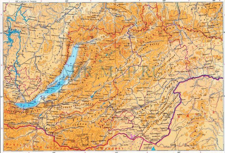 современная карта региона