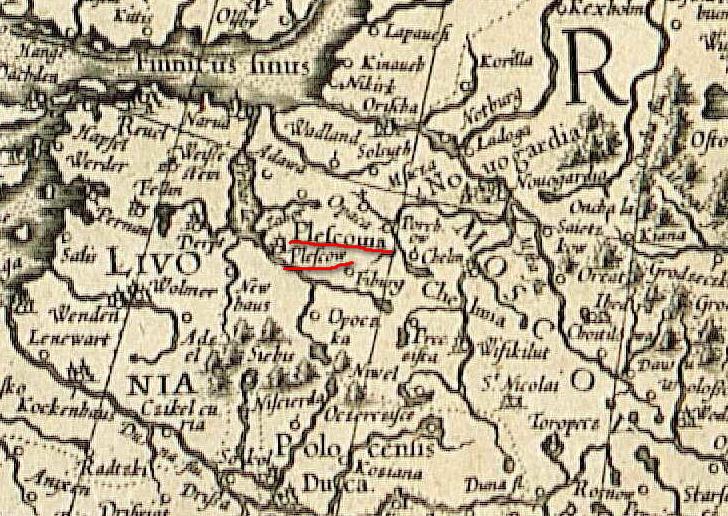 Фрагмент средневековой карты Себастьяна Мюнцера