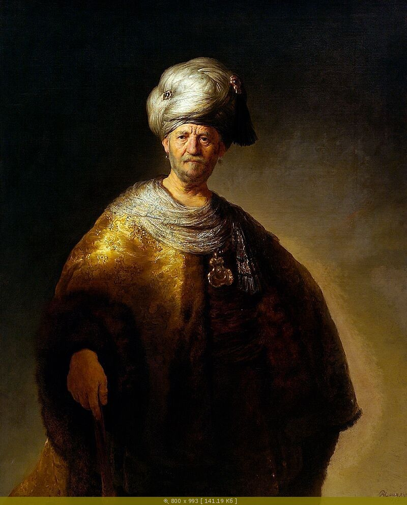 Портрет знатного славянина. Рембрандт.