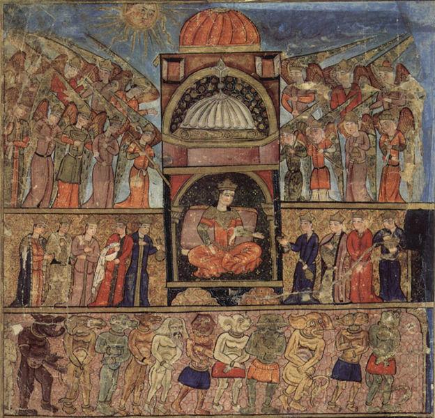 Фреска оттоманского периода Турции. Стамбул.