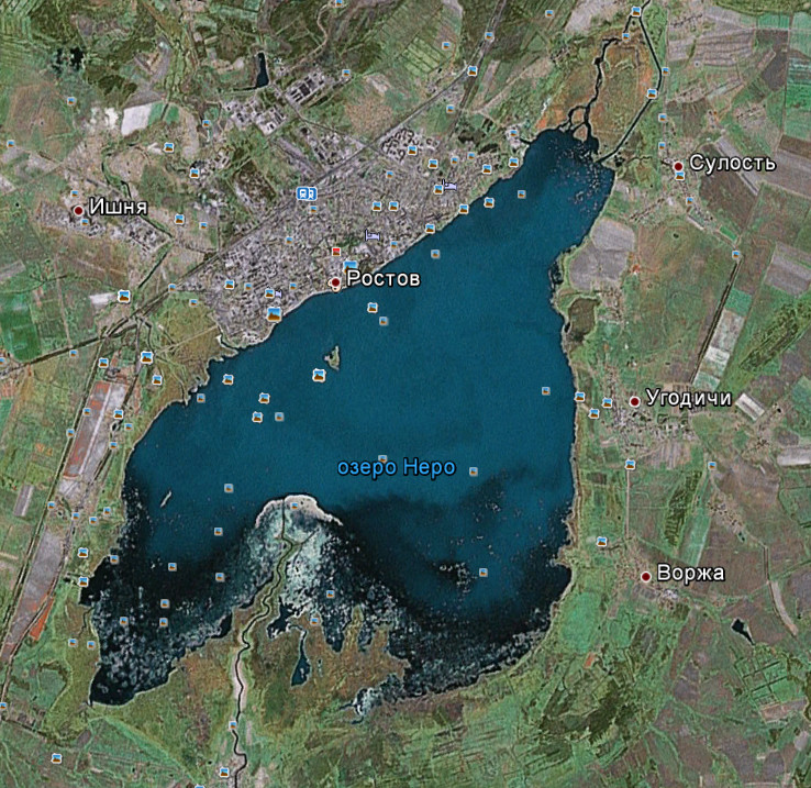 Озеро Неро. Реки Устья и Вёкса.