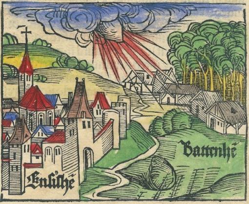 Падение Энсисгеймского метеорита 7 ноября 1492г. Альбрехт Дюрер.