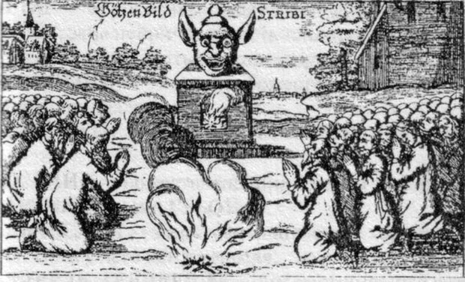 Стрибог (Стрый). Со средневековой европейской гравюры.