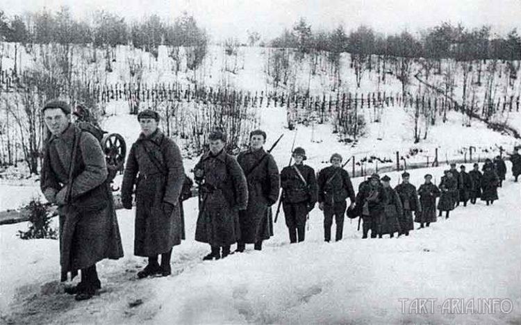 Части Ленинградского военного округа перешли пограничную реку Сестра. 30 Ноября 1939г.