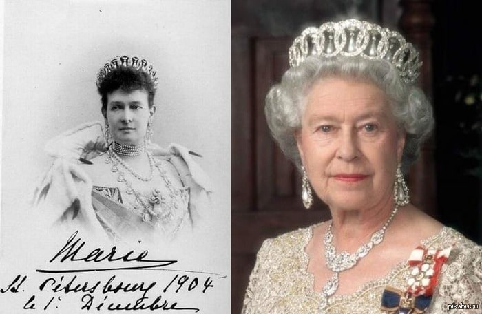Корона Российской империи на голове Королевы Великобритании.