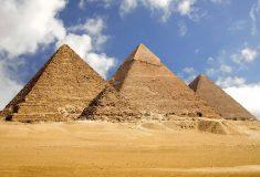 Пирамиды на плато Гиза. Египет.