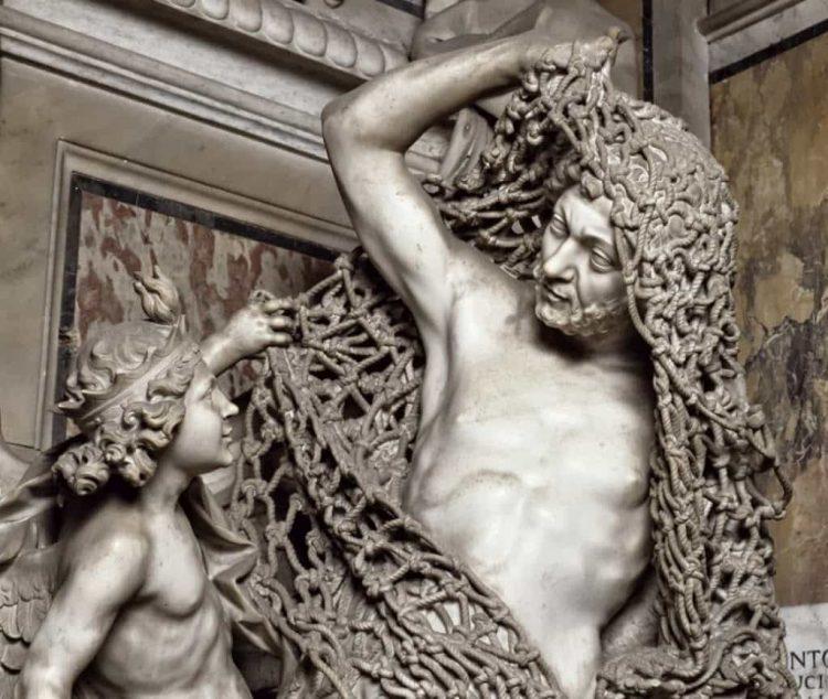 «Избавление от чар» 1757. Мрамор, пемза.
