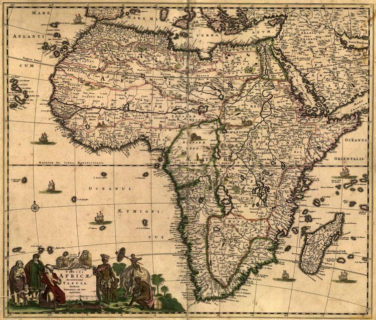 Следы водных потоков в Сахаре