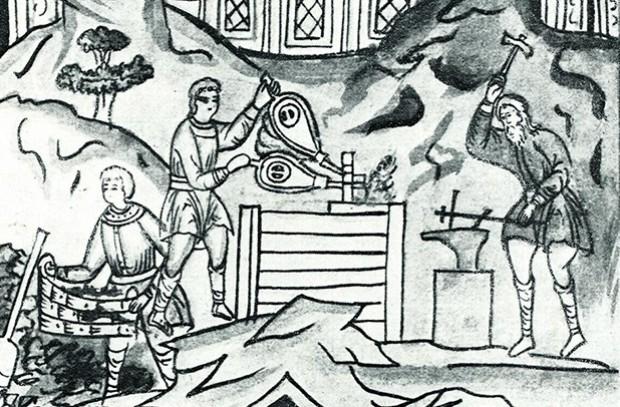 Миниатюра из Никоновской летописи, XVII век