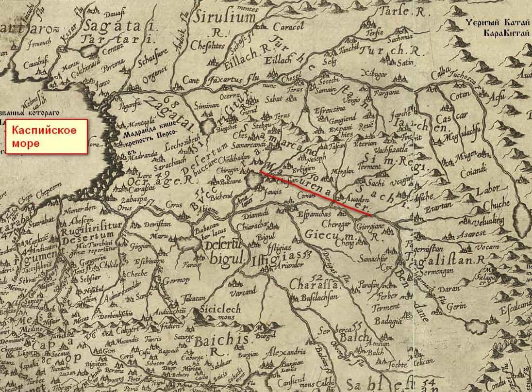 Земля Ма-Уреннер на карте Даниеля Келлера.