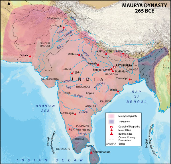 mauryan gupta india vs imperial rome methods