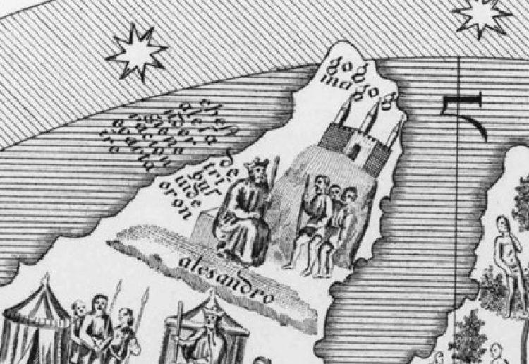 Фрагмент карты Андрэа Бианки 1436г.
