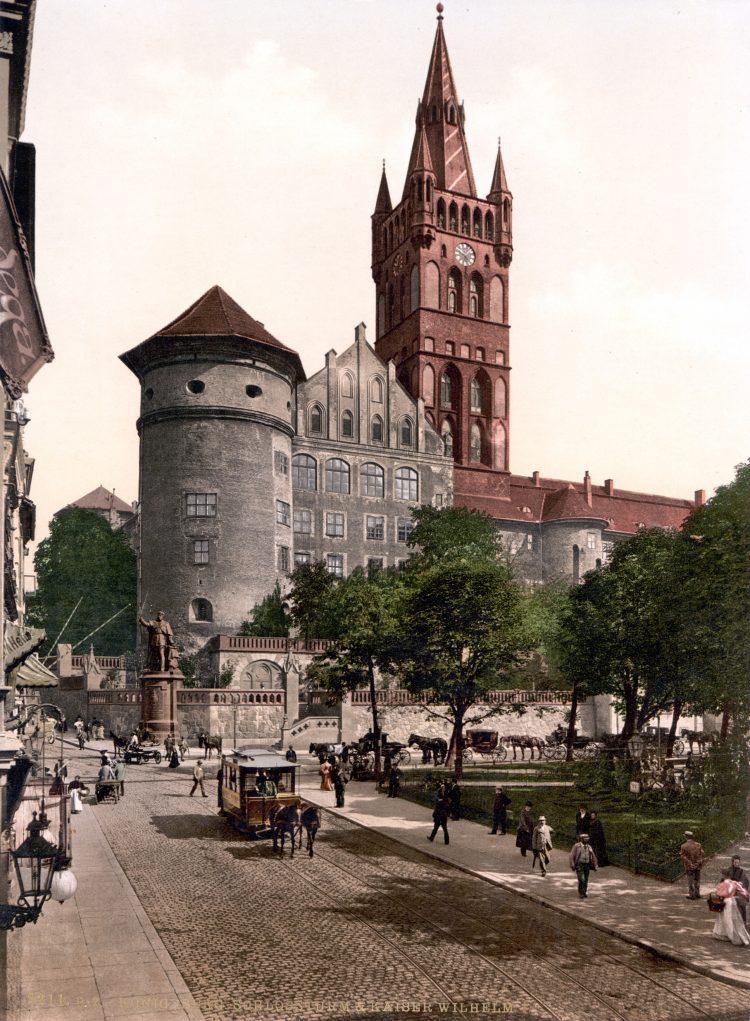 Замок Трёх королей в Кёнигсберге, Восточная Пруссия. Открытка начала ХХ века.