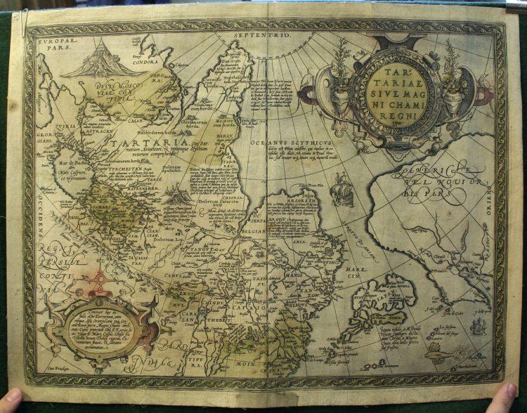 Карта Тартарии 1581г. Абрама Ортелия.