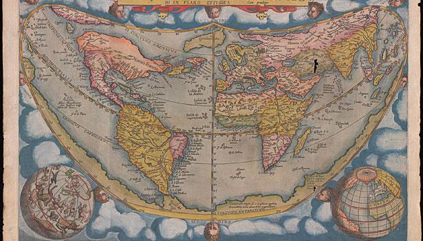 Сдвиг полюсов. Старинные карты. карта мира в цвете