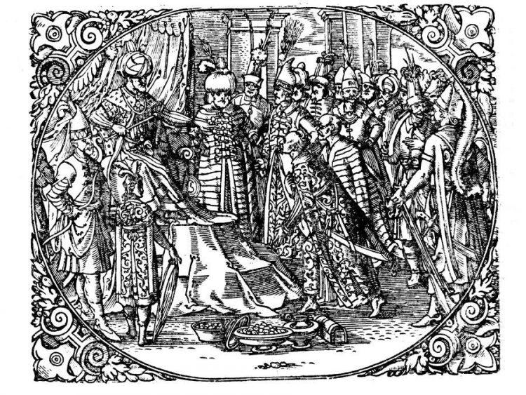 """Князь Василий III. Из книги Сигизмунда Герберштейна """"Записки о Московитских делах"""" 1557 г."""