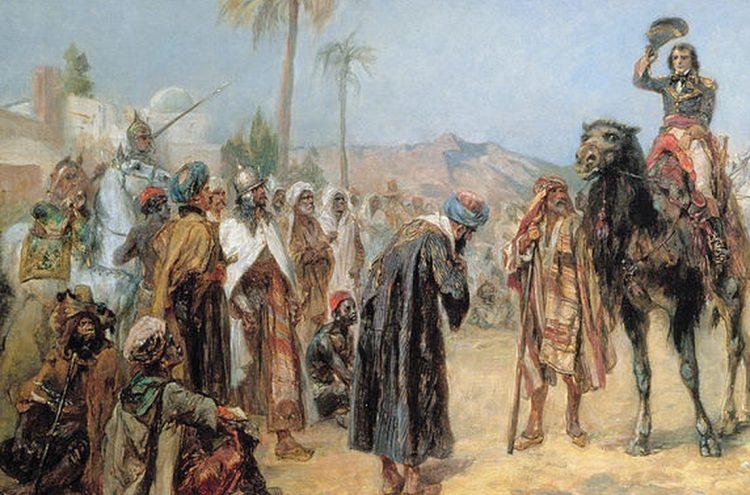 Фрагмент картины Р.А. Хилингфорда «Наполеон прибывает в египетский оазис».