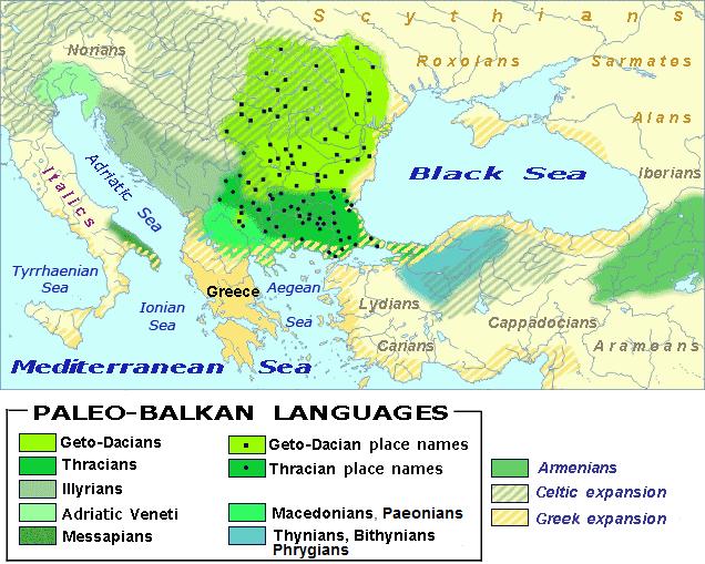 Палеобалканские языки