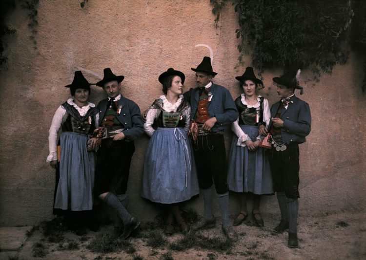 Инсбрук. Тирольские певцы. 1910г.