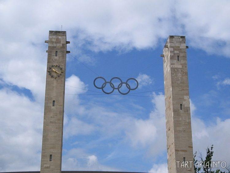 Парадные ворота Олимпийского стадиона в Берлине. ФРГ