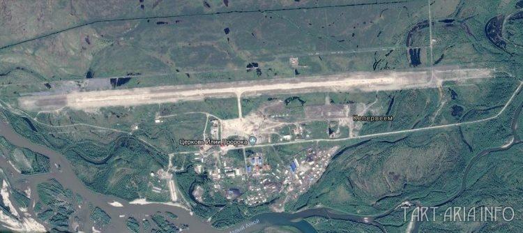 Взлётно-посадочная полоса регионального аэропорта Кепервеем Билибинского района Чукотского автономного округа