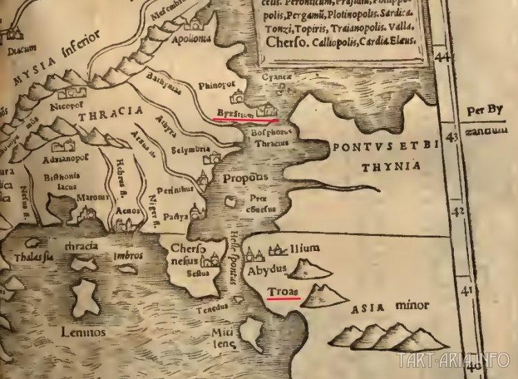 карта Византий