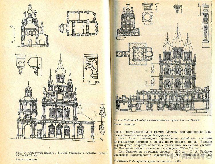 а) Смоленская церковь в Горьком и б) Введенский собор в Сольвычегодске
