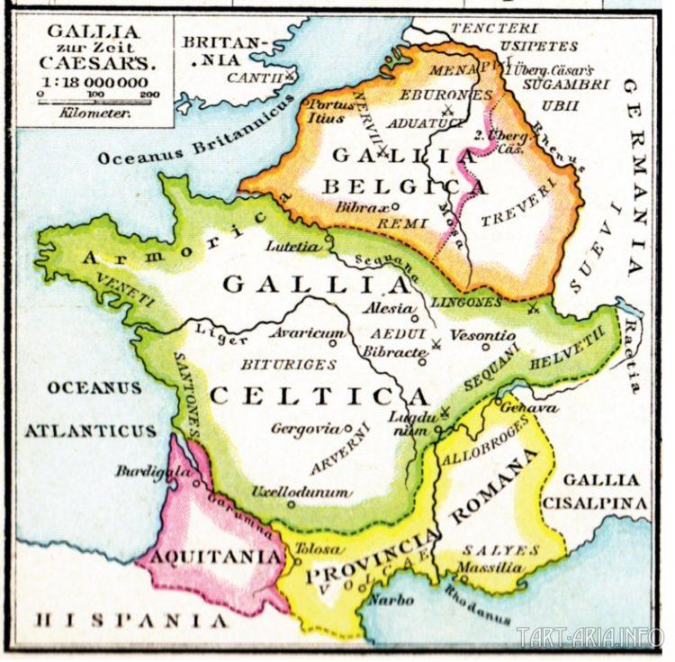 Карта Галлии
