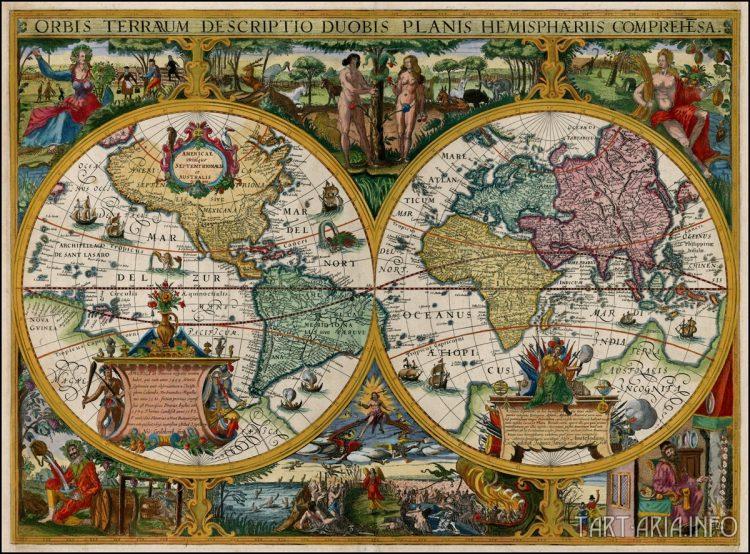 Orbis Terrarum Descriptio Duobis Planis Hemisphaeriis Comprehesa. Источник