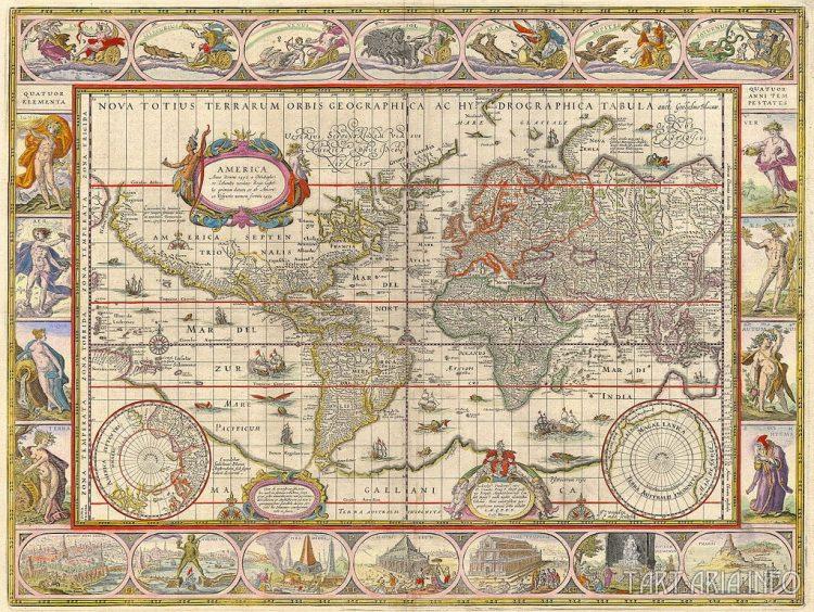 Nova totius terrarum orbis geographica ac hydrographica tabula, 1635 Источник