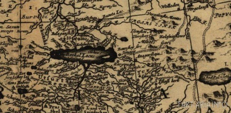Рис. 24. Фрагмент 2 карты Тартарии, 1705 г.