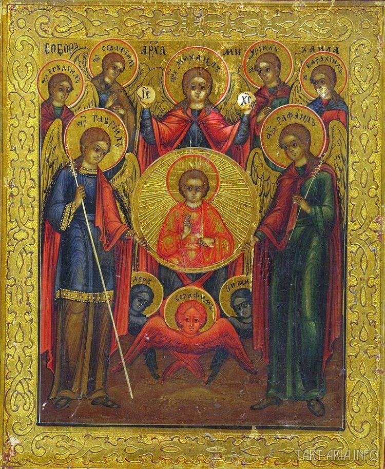 Собор архангела Михаила (русская икона, XIX век)