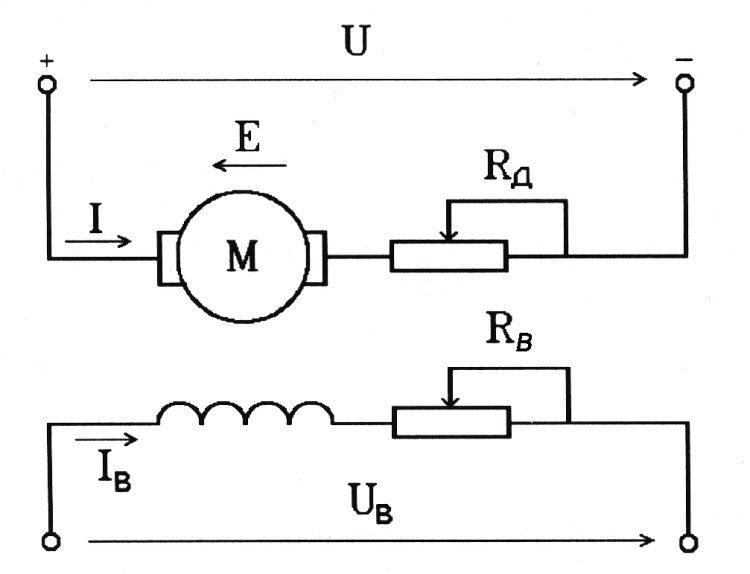 Схема подключения двигателя постоянного тока