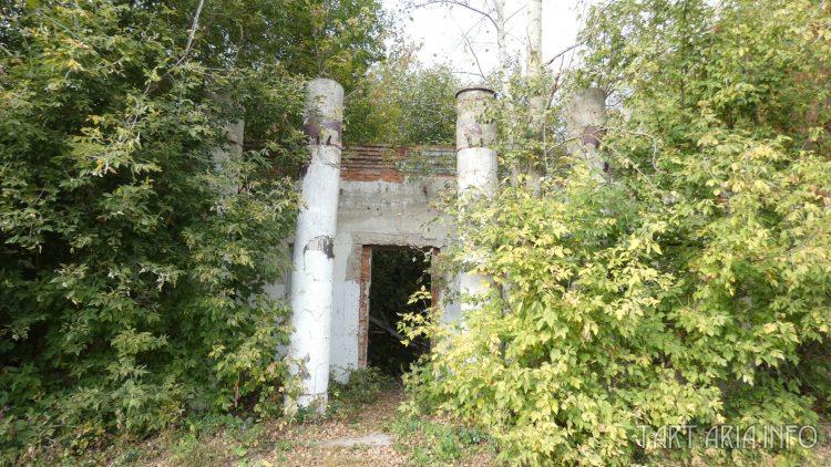 Колонны, у входа в бывший кинотеатр