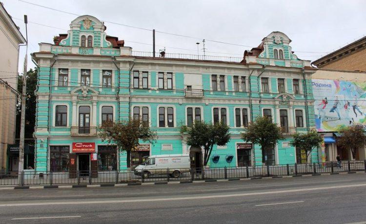 """1897 дата """"постройки"""" Тульского телеграфа. На левом фронтоне"""