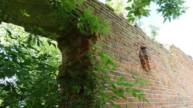 Пробитый проход, в задней стене манежа