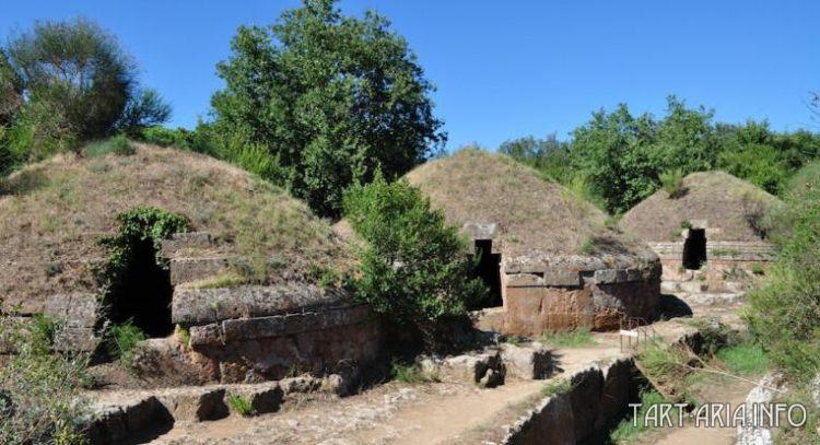 Этрусский некрополь в Черветери, фрагмент