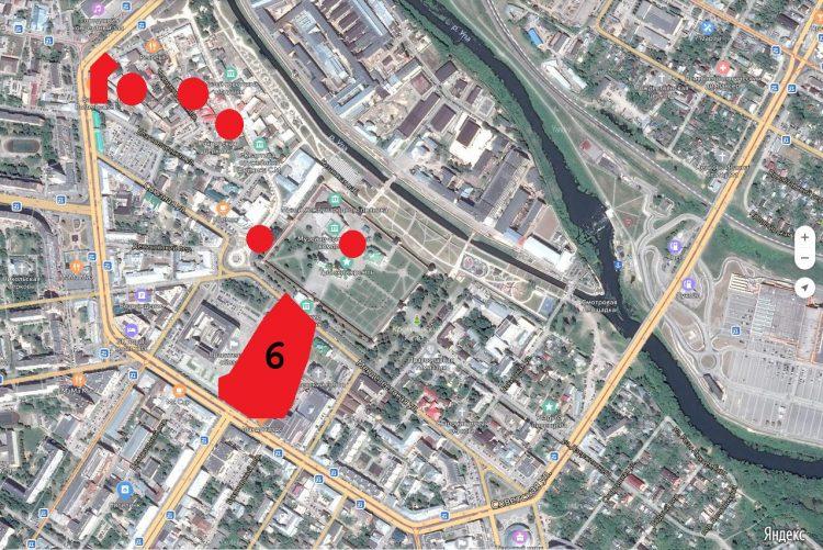 Поз. 6. Место раскопок на площади Ленина в 2012-2013 годах