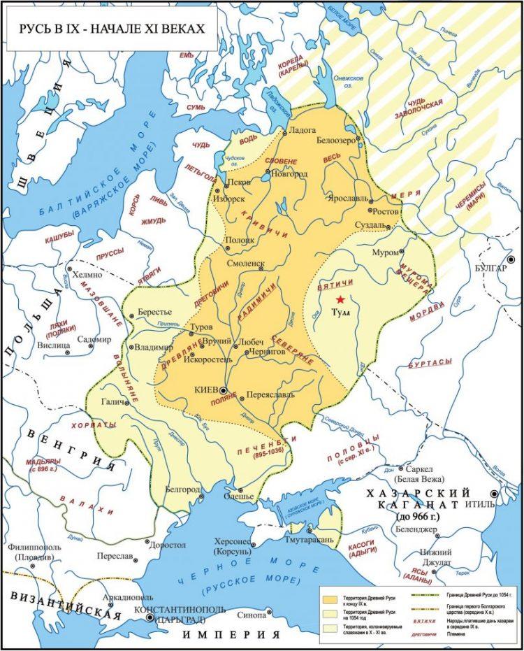 Русь в IX-XI веках