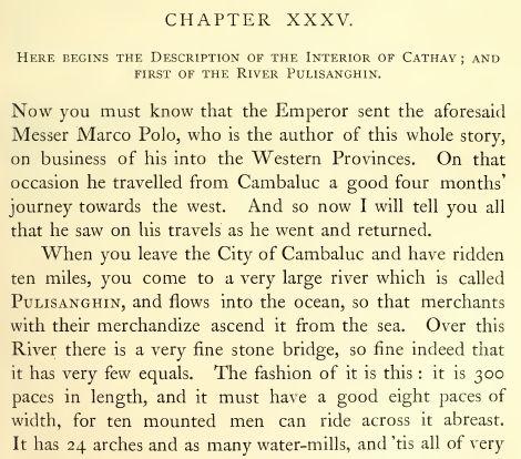 Фрагмент книги Марко Поло венецианца о царствах и чудесах Востока, 1871г. Источник