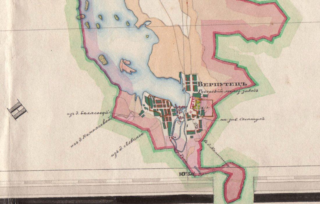 Карта 1850 года