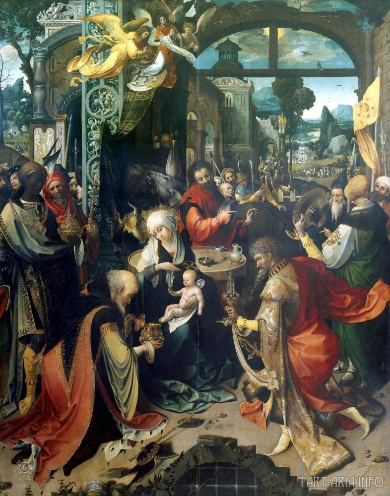 «The Adoration of the Kings» by Jan de Beer (1475-1528).